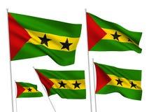 Флаги вектора Сан Томе и Принчипе бесплатная иллюстрация