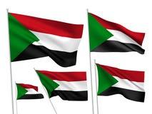 Флаги вектора Судана бесплатная иллюстрация