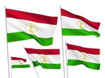 Флаги вектора Таджикистана иллюстрация штока