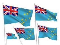 Флаги вектора Тувалу иллюстрация вектора