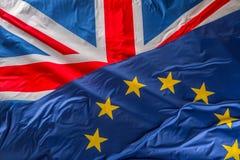 Флаги Великобритании и Европейского союза Флаг Великобритании и Стоковое Фото