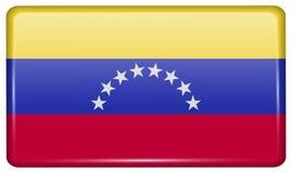 Флаги Венесуэла в форме магнита на холодильнике с отражениями освещают Стоковые Изображения RF