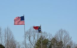 Флаги в ветерке Стоковая Фотография RF