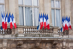 Флаги дня Бастилии Стоковые Изображения RF