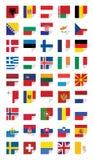 Флаги европейских положений Стоковое Изображение RF