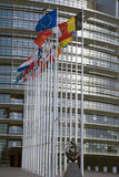 флаги евро Стоковая Фотография