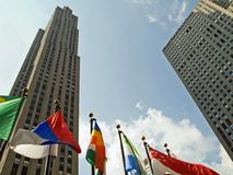 флаги зданий Стоковое Изображение RF