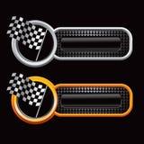флаги знамен checkered участвуя в гонке сеть Стоковая Фотография RF