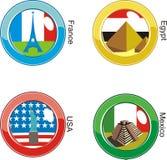 флаги кнопки Стоковое Фото