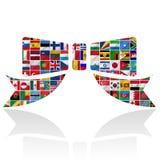 Флаги мира с комплектом иконы Стоковое Изображение
