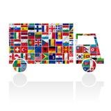 Флаги мира с комплектом иконы Стоковые Фотографии RF