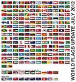 Флаги мира Стоковая Фотография RF