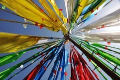 Флаги молитве тибетца назвали Jingfan Стоковые Изображения