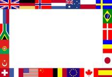 флаги обрамляют многократную цепь Стоковые Фото