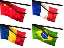 флаги оплакивая Стоковые Изображения