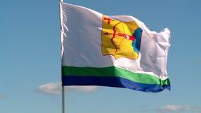Флаги порхая в небе лета сток-видео