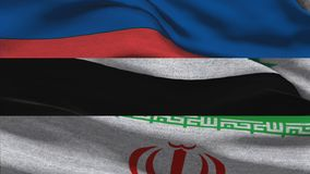Флаги России Ирана Сирии развевая иллюстрация штока