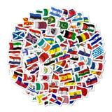 флаги собрания Стоковое Изображение