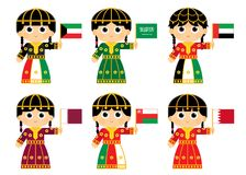 Флаги Совет по сотрудничеству стран Персидского залива Стоковое фото RF