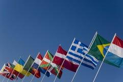 флаги страны Стоковые Изображения RF