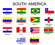 флаги стран америки южные Стоковая Фотография RF