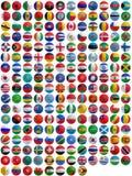 Флаги стран на шаре для игры в гольф Стоковое Фото