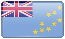 Флаги Тувалу в форме магнита на холодильнике с отражениями освещают Стоковая Фотография