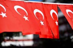 Флаги Турции увидены во время национального праздника ` s страны Стоковое Фото