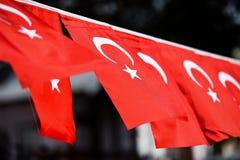Флаги Турции увидены во время национального праздника ` s страны Стоковые Изображения
