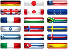 флаги установили мир стоковое изображение rf