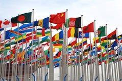 флаги экспо стоковое изображение