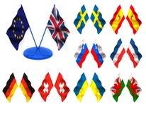флаги 3d Стоковое фото RF
