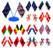флаги 3d Стоковое Изображение RF
