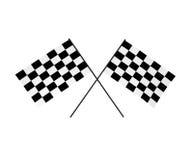 флаги chequered 3d Стоковое Изображение