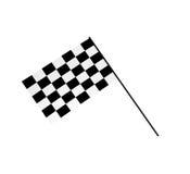флаги chequered 3d Иллюстрация вектора