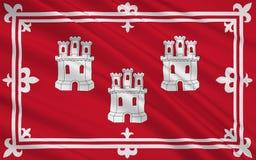 Флаг Абердина город Шотландии, Великобритании большого Br Иллюстрация вектора