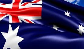 флаг Австралии Стоковое Фото