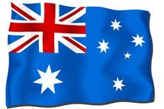 флаг Австралии Стоковое Изображение RF
