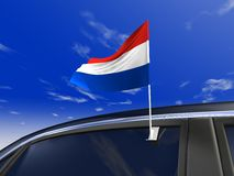 флаг автомобиля Стоковые Изображения