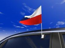 флаг автомобиля Стоковое Изображение