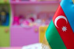 Флаг Азербайджана для малой таблицы Стоковое Изображение