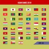 Флаг Азиатских игр Стоковое Фото