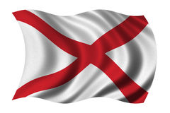 флаг Алабамы Стоковая Фотография
