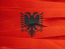 Флаг Албании или албанское знамя Стоковое Изображение RF