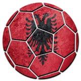 Флаг Албании футбольного мяча национальный Шарик футбола Албании Стоковые Изображения