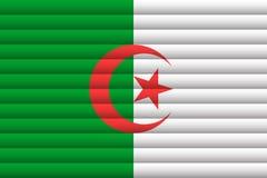 Флаг Алжира также вектор иллюстрации притяжки corel иллюстрация вектора
