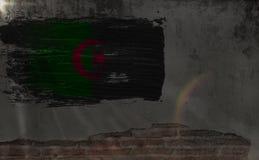 флаг Алжира Флаги соотечественников поворачивать страны мира стоковые изображения rf