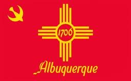 Флаг Альбукерке в Неш-Мексико, США стоковое изображение