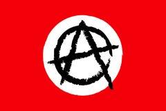 флаг анархии Стоковое Фото