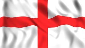 Флаг Англии развевая в символе ветра страны Англии иллюстрация вектора